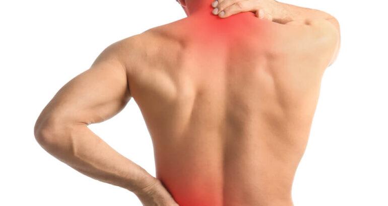 im Rücken Muskelverhärtungen und Schmerzen