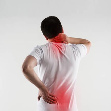 eingeklemmter Nerv im Rücken - Nervenschmerzen