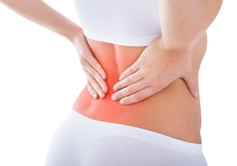 Durch Muskelverhärtungen Rückenschmerzen