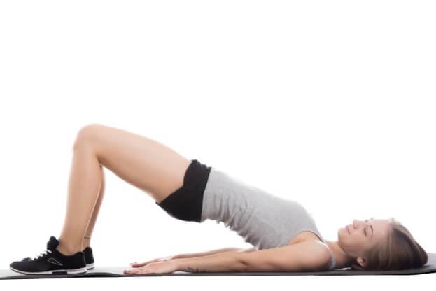 der Beckenlift - Rückenschmerzen Übung unterer Rückenbereich