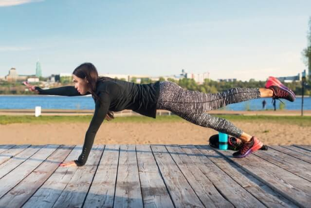 bei Rückenschmerzen unterer Rücken -Rückenstrecker Übung