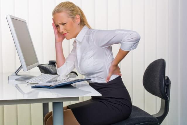 Zifferblatt Rückenübung bei Kreuzschmerzen