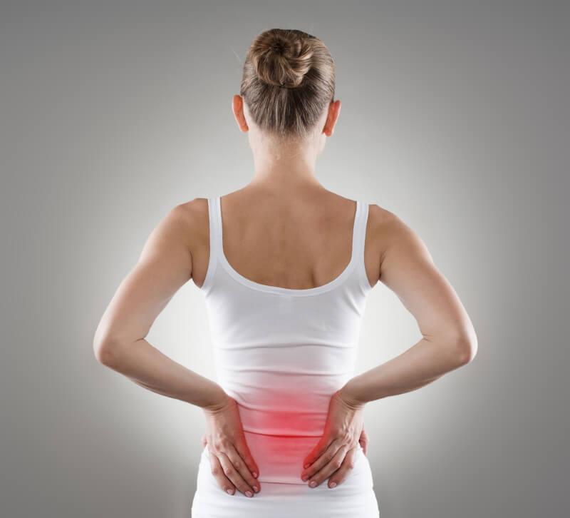 Rückenschmerz im unteren Rücken