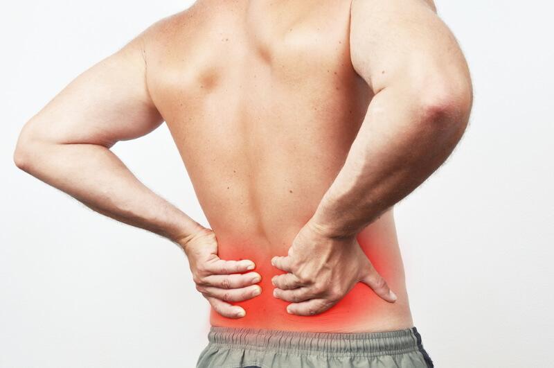 Rückenschmerzen unten durch Muskelverhärtung