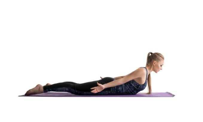Brustheben Rückentraining - unterer Rückenbereich