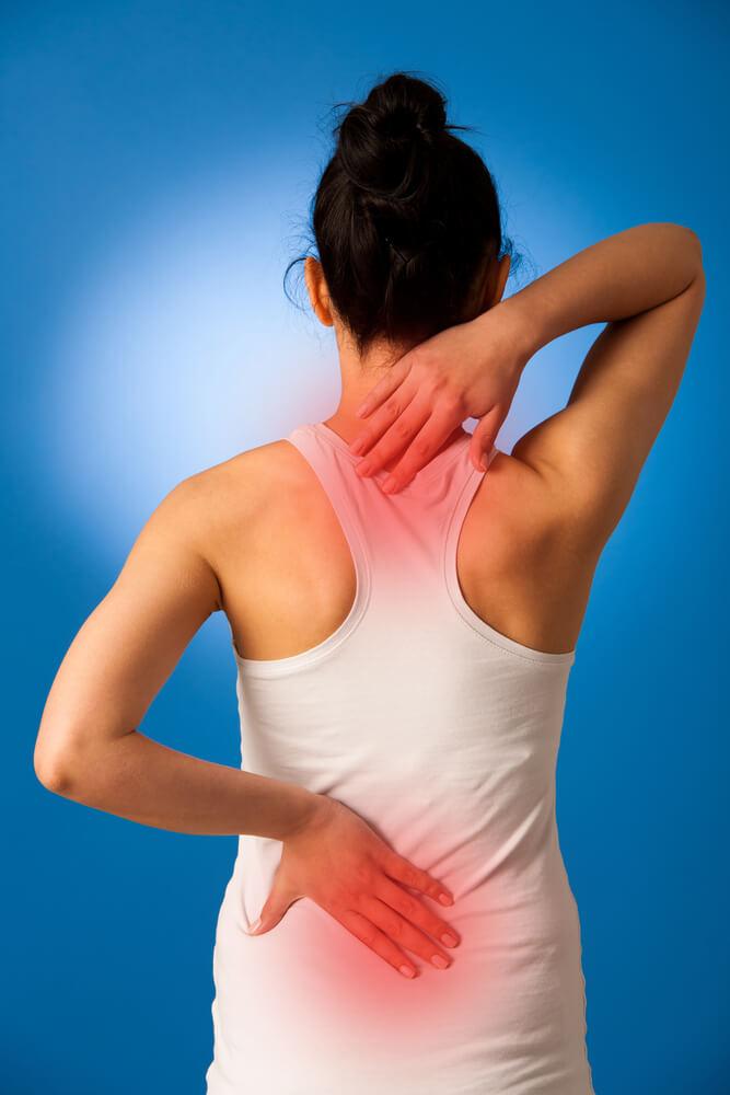 Schmerzen im Rücken - verhärtete Muskeln