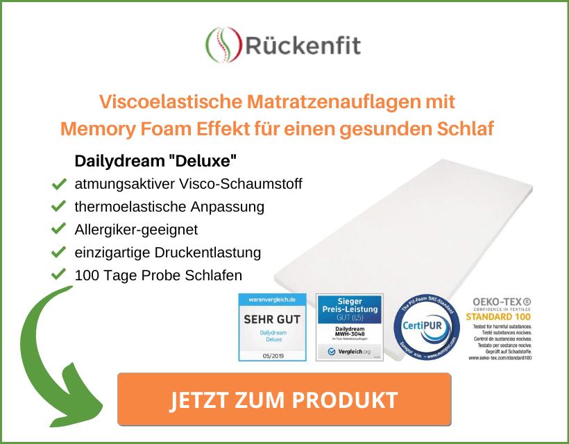 "Dailydream ""Deluxe"" Visco-Schaumstoff Topper"