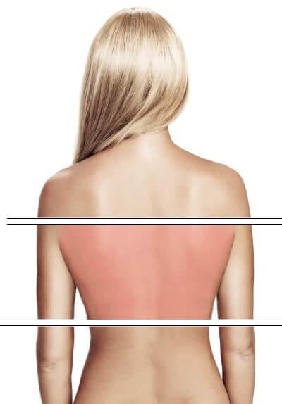 Schmerzen im mittleren Rückenbereich